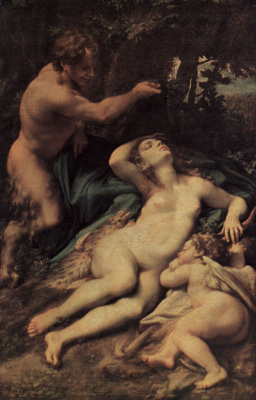 Antonio Correggio. Jupiter and Antiope