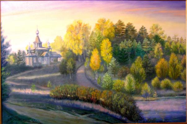 """Alexander Fedorovich Vazhnev. """"Lake Svetloyar. Sunrise"""""""