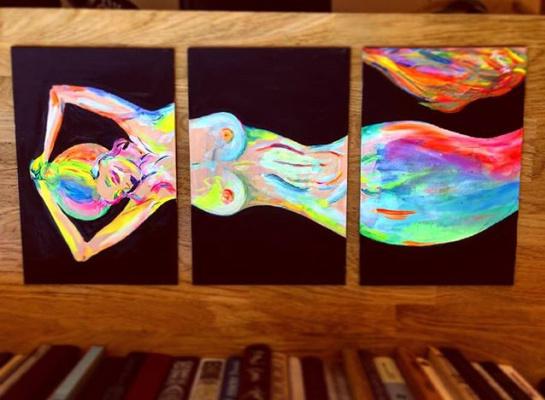 "Daria Krutik. Triptych ""Mermaid"""