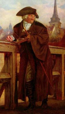 Adolf Friedrich Erdmann von Menzel. Chodowiecki on Janovicka bridge