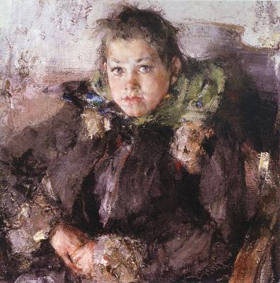 Nikolay Feshin. Portrait of a girl