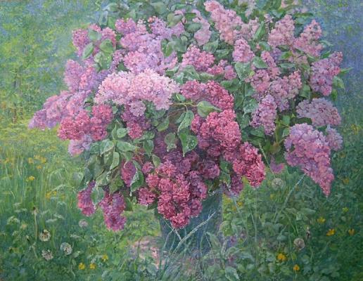 Александр Алексеевич Дубровский. Bouquet of spring rain Painting by Oleksandr Dubrovskyy