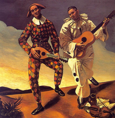 Andre Derain. Harlequin and Pierrot