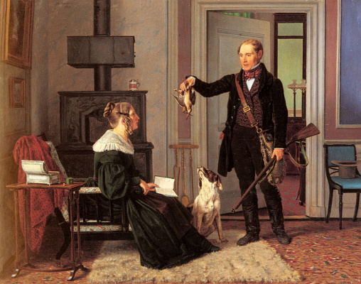 Martinus Rorby. Hunter and his wife