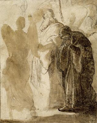 Jan Livens. Lot leaving Sodom. Sketch