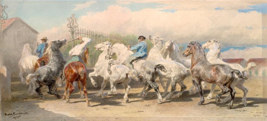 Rose Bonhur. The return of the market horses