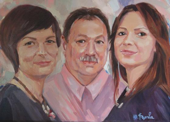 Julia Valerievna Fedotova. Family portrait