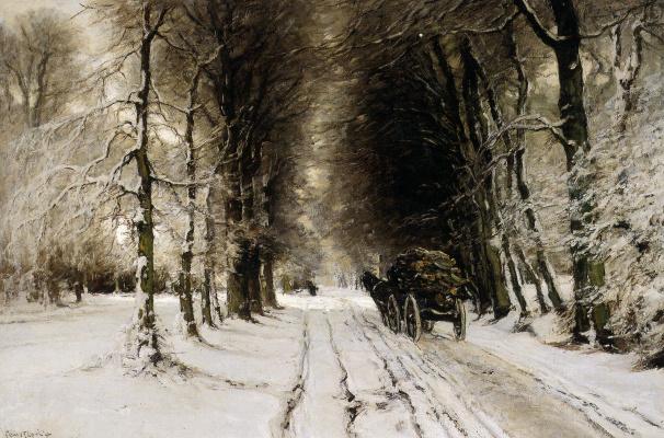 Луи Апол. Зимний пейзаж
