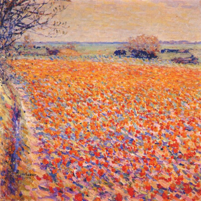 Unknown artist. Tulip field