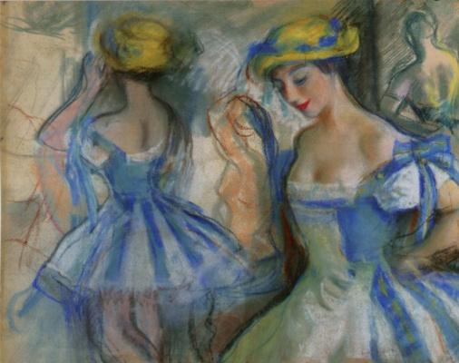 Zinaida Serebryakova. The restroom in the ballet of the Mariinsky theatre