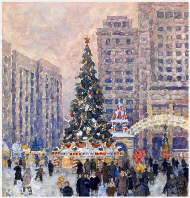 Новогодняя елка на Манежной площади