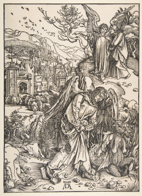 Albrecht Durer. The angel with the key of the underworld