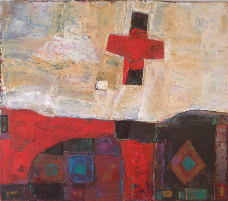 "Igor Vasilyevich Kislitsyn. ""The origin of the cross 2"", 2002, oil on canvas, 150 x 170"