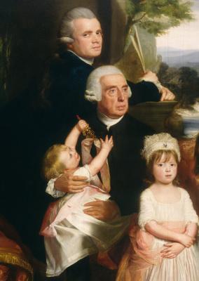 John Singleton Copley. Portrait of the Copley family. Fragment II