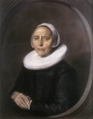 France Hals. Portrait of an unknown woman