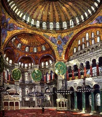 Alexander Mikhailovich Gerasimov. Hagia Sophia