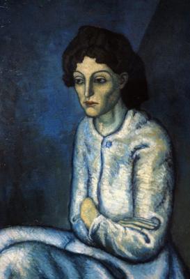 Пабло Пикассо. Женщина со скрещёнными руками