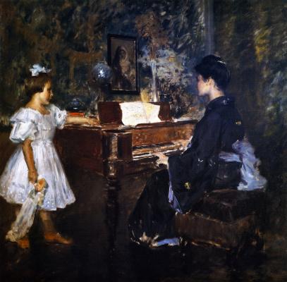 William Merritt Chase. Music lesson