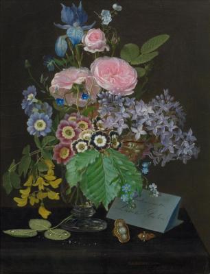 Отто Дидрик Оттесен. Натюрморт с цветами