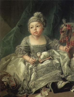 Francois Boucher. Portrait of Louis Philippe Joseph, Duke of Carlo, a baby