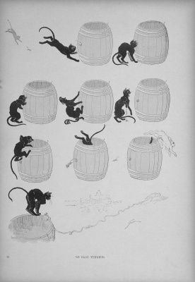 Theophile-Alexander Steinlen. Cats: pictures without words. Nail