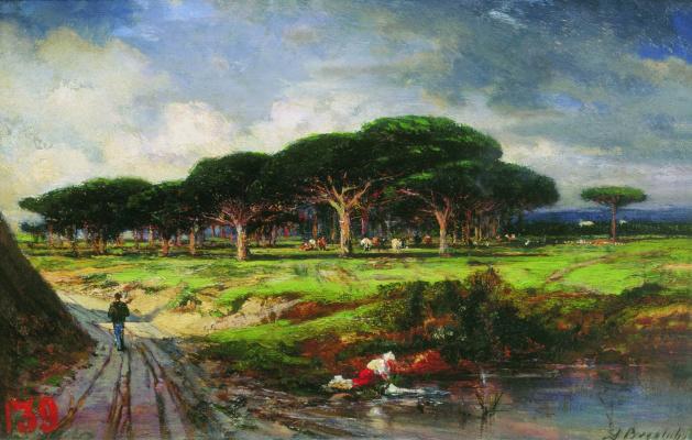 Alexey Petrovich Bogolyubov. Pine Grove near Menton