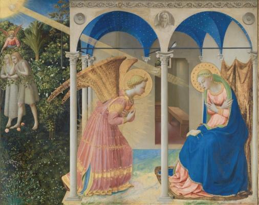 Фра Беато Анджелико. Алтарь Благовещение Марии. Фрагмент