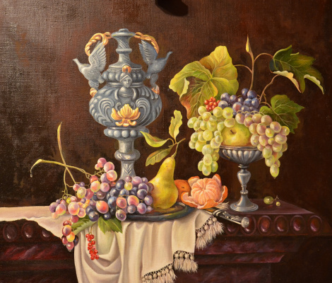 Eleonora Vladimirovna Chirkova. Still life with grapes