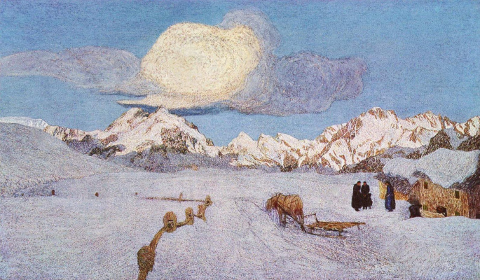 Джованни Сегантини. Альпийский триптих. Смерть