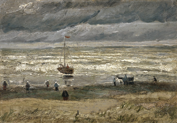 Vincent van Gogh. A view of the sea at Scheveningen