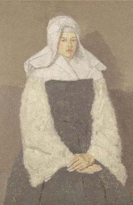 Гвен Джон. Портрет молодой монахини