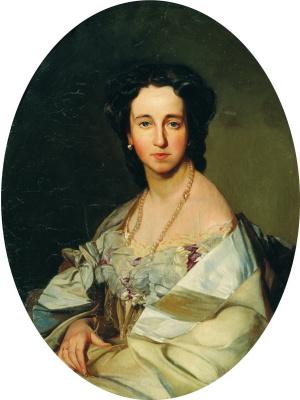 Ivan Kuzmich Makarov. Portrait of N. Samsonova
