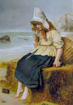 John Everett Millais. The message of the sea