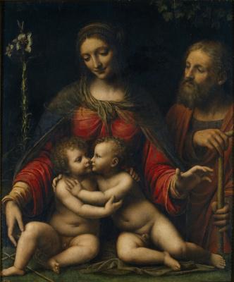 Бернардино Луини. Святое семейство со святым Иоанном