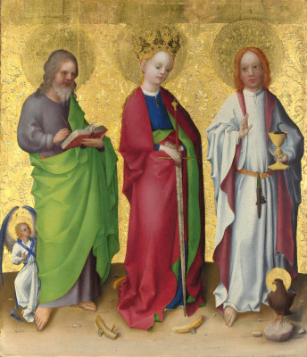 Stefan Lochner. St. Matthew, St. Catherine and St. John the Theologian. About 1450
