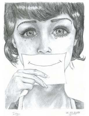 """Ирина Владимировна Хазэ. Fantasy portrait """"Smile"""""""