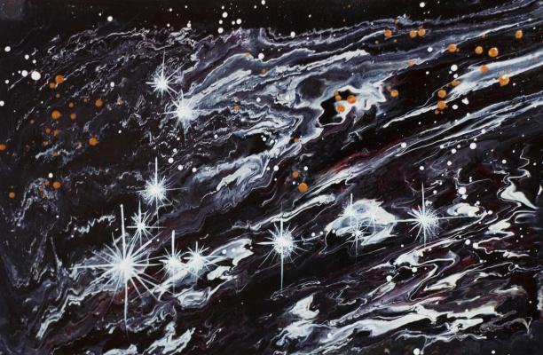 "Alla Struchayeva. Painting ""Fishes"""