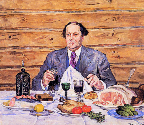Petr Petrovich Konchalovsky. A. N. Tolstoy visiting artist