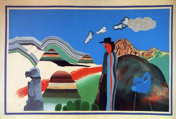 David Hockney. Rocky mountains and tired Indians