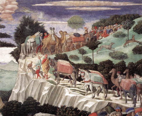 Benozzo Gozzoli. Procession of the Magi