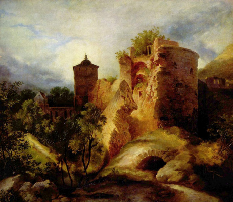 Карл Эдуард Фердинанд Блехен. Разрушенная башня Гейдельбергского замка