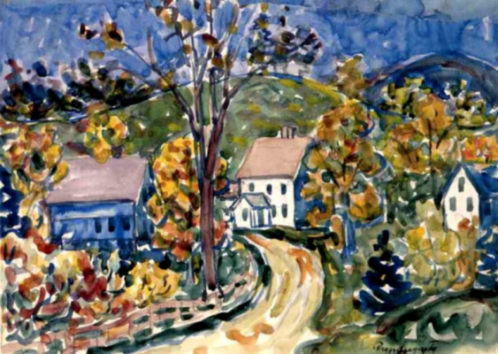 Maurice Braziel Prendergast. Country road, new Hampshire