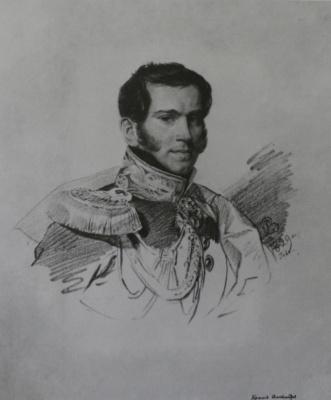 Karl Pavlovich Bryullov. Portrait of count A. Fersen