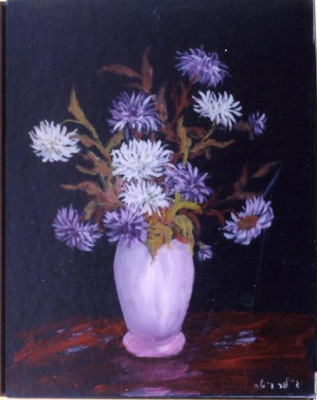 Rita Arkadievna Beckman. Chrysanthemum - Queen of autumn