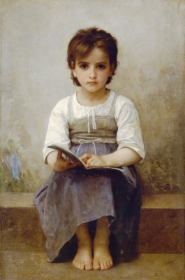 William-Adolphe Bouguereau. Hard lesson