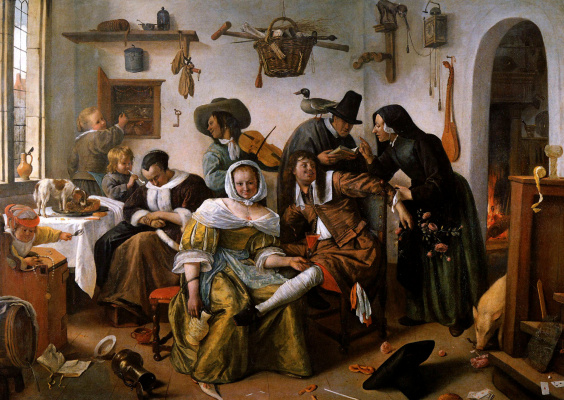 Jan Steen. Frustrated farm (Kawardak)