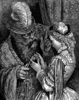 Paul Gustave Dore. Blue Beard