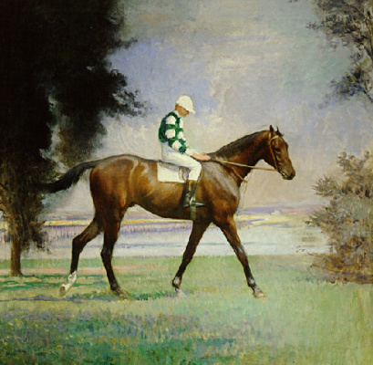 Эдмунд Чарльз Тарбелл. Породистая лошадь с жокеем