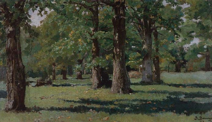 Victor Mikhailovich Vasnetsov. Oak grove at Abramtsevo