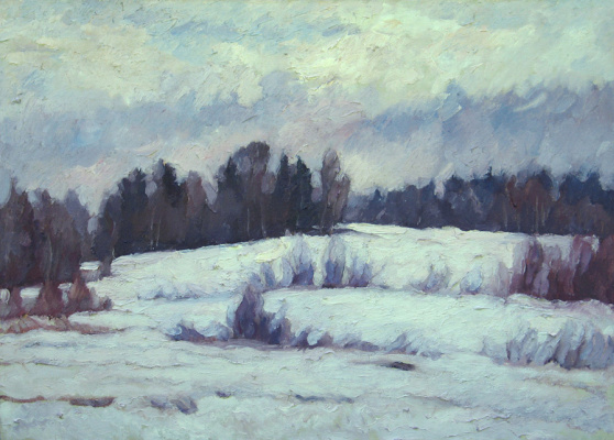 Alexey Vladimirovich Konstantinov. Field of Gorodische in the winter